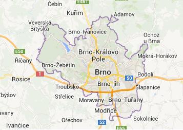 Mapa - Brno